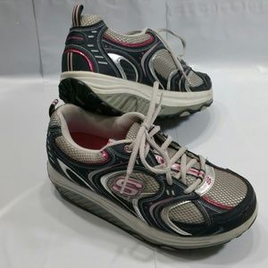 Skechers Shape Ups Athletic Shoes Gray Pink